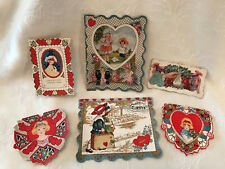 #9 Vintage Collection (6) Whitney Made, Lace, Die Cut Other Valentine Cards