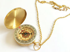 Blingustyle Vintage Fluorescence Compass style Pendant Necklace Jewelry