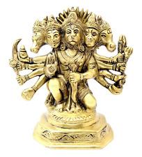 Hanuman Statue Hindu God Panchmukh Brass Garuda Sculpture Diwali Murti Anjaneya