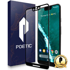 "Poetic® For Google Pixel 3 XL ""Ultra thin"" Tempered Glass Screen Protector Black"