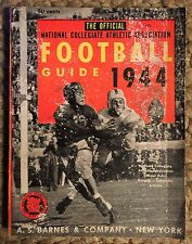 Vintage Football Book- Official 1944 Football Guide- Barnes And Company