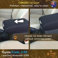 Toyota Prado J150 (Nov 09-now) CONSOLE Lid Premium Neoprene Cover + Slide Fwd