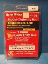 Dollhouse LED mini lights 1.8mm 5 warm white bulbs U10 universal 1:48 all scales