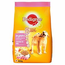 Pedigree Puppy Dog Food Chicken & Milk, 400 g (Small Pack)
