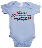 "Funny Baby Bodysuit ""Future Heartbreaker Best Lock up Daughters"" Boy Clothes"