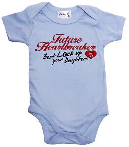 "Funny Baby Bodysuit ""Future Heartbreaker Best Lock up Daughters"" Boy Clothes"
