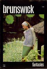 Brunswick Fantasies Knitting Patterns Sweater Cardigan Jacket Coat Suit 1968