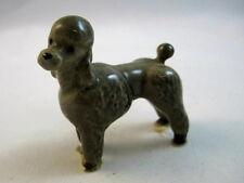 Hagen Renaker miniature made in America Poodle grey retired