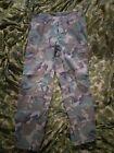 USGI Post Vietnam War RDF ERDL Camo Trousers, Dated 1981, Size Small-Short