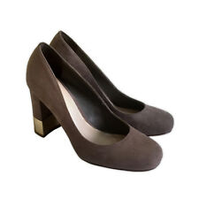 CHARLES & KEITH BROWN NUDE CLASSIC LEATHER PUMPS