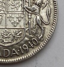 CANADA 1940 50 CENTS KING GEORGE VI  .800 SILVER  C22