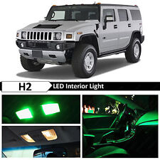 17x Green Interior LED Lights Package Kit for 2003-2009 Hummer H2