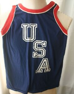 Vintage USA Red White & Blue Tank Top 70s