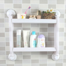 Storage Shower Wall Basket Bathroom Kitchen Shelf Suction Cup Rack