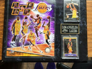 OFFICIAL NBA 12x15 in. Los Angeles Lakers Plaque 2008/09 ANDREW BYNUM, PAU GASOL