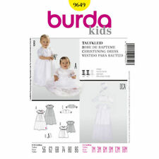 Burda SEWING PATTERN 9649 Christening/Baptism Dress,Bonnet,Jacket 1m-18m