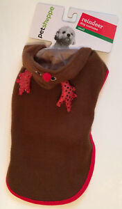 Christmas Holiday Pet Shoppe Reindeer Costume Small Brown Hoodie - New With Tags