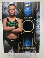 2017 Topps UFC Knockout Relics /99 Rose Namajunas THUG ROSE FIGHTER-WORN