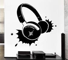 Headphones Music Rock Pop Song Singer Decor Living Room Wall Decal (z2725)