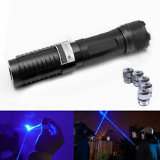 Outdoor 450nm Blue Laser Pointer Protect Aid Laser Flashlight Powerful Laser Pen