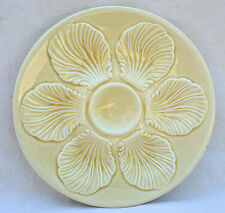 Vintage Oyster Plate Sand Proceram French Faience 1950's