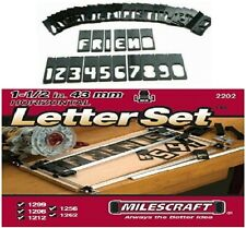 Sign Making Letter Engraving Jig Set Maker for Router Wood Woodworking Template