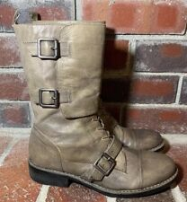 Vince Camuto 'Fergus' Distressed Taupe Leather Combat Boots - Women's Size 7.5