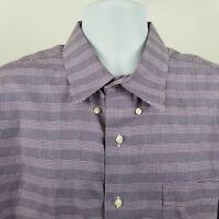 Tommy Bahama Mens Purple Plaid Check L/S Dress Button Shirt Sz 17.5 34/35