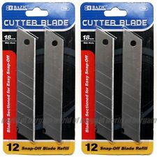 24 pcs Cutter Blade 18mm Snap Off Box Utility Knife Razor Refill Replacement T17