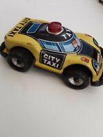 Vintage Tin Car Vehicle Toy City Taxi Friction Car Hong Kong Cumberland Toys