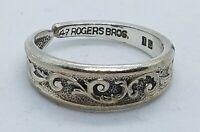 Vintage 1967 Rogers Silverplate Esperanto  Pattern Spoon Ring Size 9 1/2