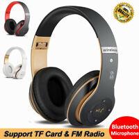 Auriculares inalámbricos Bluetooth plegable Audio Hifi Estéreo Auriculares + Mic
