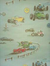 1970's Vintage Wallpaper Race Cars & Hot Rods Gear Head Double Roll Sears