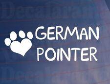I LOVE//HEART GERMAN POINTERS Bone Car//Van//Window Sticker Ideal for Dog Owners