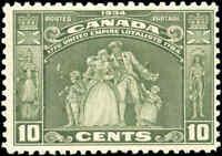 1934 Mint H Canada F+ Scott #209 10c Loyalists Issue Stamp
