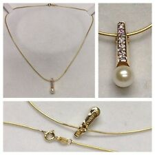 14k Collar Serpiente 585er COLGANTE DE ORO CON BRILLANTES Y PERLA von CHRIST