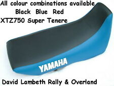 Yamaha XTZ750 Super Tenere Seat cover Sitzbezug Two-Tone Red+Black or Blue+Black