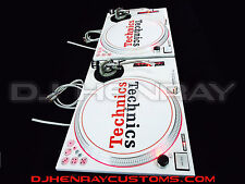 2 custom white Technic SL1200 MK2's w intergraded dicers, red halos, red leds