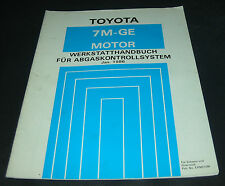 Werkstatthandbuch Toyota Supra Typ MA70 7M-GE Motor Abgaskontrollsystem 01/1986