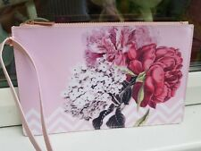 Ted Baker Pink Palace Gardens Zipped Clutch Bag FAB NEW