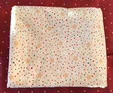 Handmade cotton baby receiving blanket, Gold Stars, Red, Green, Large Christmas