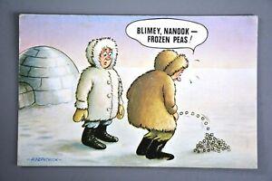 Postcard, Comic, Bamforth 48, Eskimo Frozen Peas, Toilet Urination Humour