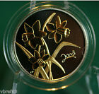 2003 CANADA Daffodil 50 cent coin Sterling silver with gold plating