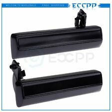 Outside Black Door Handle Driver & Passenger Side Pair for Chevy S10 GMC Pickup