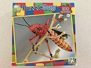 PUZZLEBUG 100 PIECE PUZZLE~BRAND NEW FACTORY SEALED~MILKWEED GRASSHOPPER