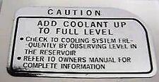 KAWASAKI Z1300 KZ1300 Calcomanía de advertencia de precaución del refrigerante