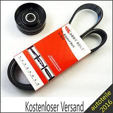 Neu Keilrippenriemen + Spannrolle für VW POLO 1.0 / 1.4 / 1.6 / 1.3 / +16V GTI