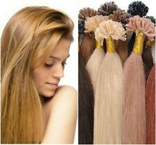 "Keratin U-Tip Hot Fusion 18"" European Remy Hair Extensions 100 Strands Any Color"