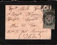 LETTERA DA MARSIGLIA PER MILITARE 1°RGT ALPINI PIEVE DI TECO IMPERIA 1919 C5-448