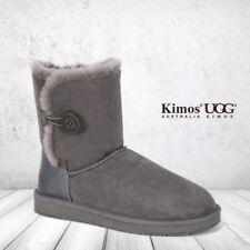 Sheepskin Casual Mid-Calf Boots for Women